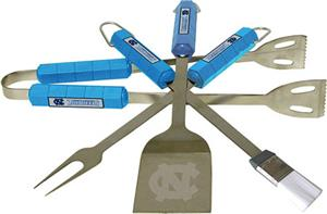 COLLEGIATE North Carolina 4 Piece BBQ Set