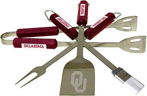 COLLEGIATE Oklahoma 4 Piece BBQ Set