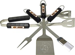 COLLEGIATE Oklahoma State 4 Piece BBQ Set