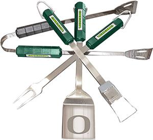 COLLEGIATE Oregon 4 Piece BBQ Set
