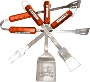 COLLEGIATE Oregon State 4 Piece BBQ Set