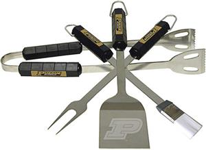 COLLEGIATE Purdue 4 Piece BBQ Set
