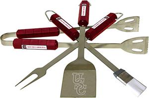 COLLEGIATE South Carolina 4 Piece BBQ Set