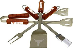 COLLEGIATE Texas 4 Piece BBQ Set