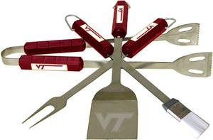 COLLEGIATE Virginia Tech 4 Piece BBQ Set