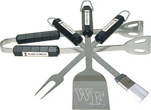 COLLEGIATE Wake Forest 4 Piece BBQ Set