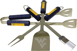 COLLEGIATE West Virginia 4 Piece BBQ Set