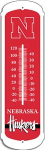 "COLLEGIATE Nebraska 27"" Outdoor Thermometer"