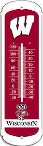 "COLLEGIATE Wisconsin 27"" Outdoor Thermometer"