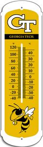 COLLEGIATE Georgia Tech 12&quot; Outdoor Thermometer