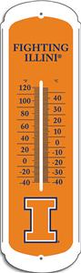 COLLEGIATE Illinois 12&quot; Outdoor Thermometer
