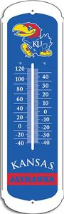 "COLLEGIATE Kansas 12"" Outdoor Thermometer"