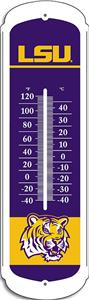 COLLEGIATE LSU 12&quot; Outdoor Thermometer