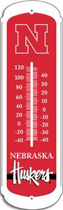 "COLLEGIATE Nebraska 12"" Outdoor Thermometer"
