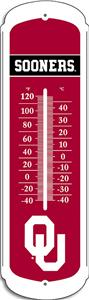 "COLLEGIATE Oklahoma 12"" Outdoor Thermometer"