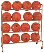 Bison Standard 16 Ball Basketball Carts