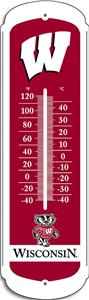 "COLLEGIATE Wisconsin 12"" Outdoor Thermometer"