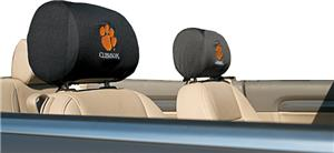 COLLEGIATE Clemson Headrest Covers - Set of 2