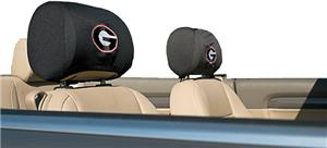 COLLEGIATE Georgia Headrest Covers - Set of 2