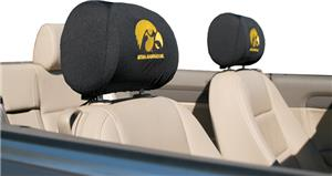 COLLEGIATE Iowa Headrest Covers - Set of 2