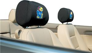 COLLEGIATE Kansas Headrest Covers - Set of 2