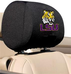 COLLEGIATE LSU Headrest Covers - Set of 2