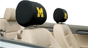COLLEGIATE Michigan Headrest Covers - Set of 2