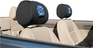 COLLEGIATE N. Carolina Headrest Covers - Set of 2