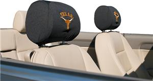 COLLEGIATE Texas Headrest Covers - Set of 2