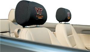 COLLEGIATE Virginia Tech Headrest Covers Set of 2