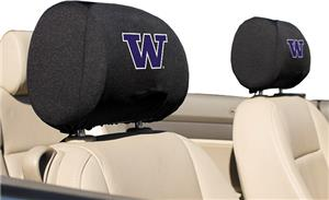 COLLEGIATE Washington Headrest Covers - Set of 2
