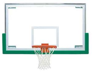 "Bison 48"" Tall Unbreakable XL Glass Backboard"