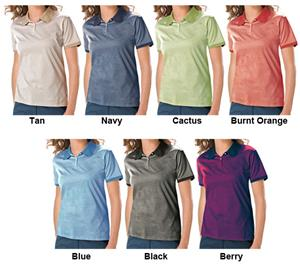 Blue Generation Ladies SS Shadow Stripe Polo Shirt