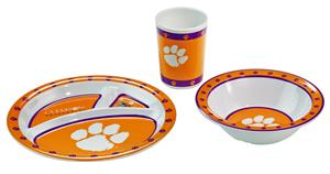 Collegiate Clemson Kid's 3 Pc. Dish Set