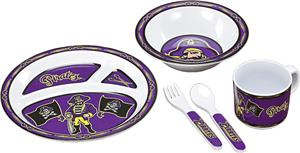 COLLEGIATE East Carolina Children's Dish Set