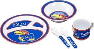 COLLEGIATE Kansas Children's Dish Set