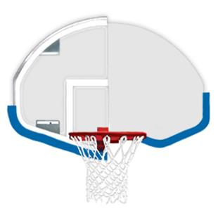 Bison Basketball DuraSkin for Fan-Shaped Backboard