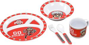 COLLEGIATE Ohio State Children's Dish Set