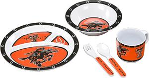 COLLEGIATE Texas Tech Children's Dish Set