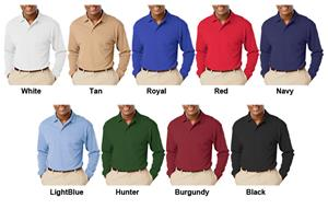 Blue Generation Adult LS Soft Touch Polo Shirts
