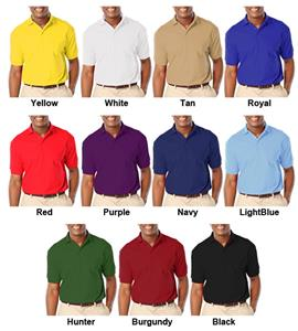 Blue Generation Men&#39;s SS Value Pique Polo Shirts