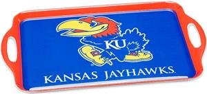 COLLEGIATE Kansas Melamine Serving Tray