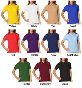 Blue Generation Ladies SS Value Pique Polo Shirts