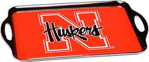 COLLEGIATE Nebraska Melamine Serving Tray