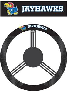 COLLEGIATE Kansas Steering Wheel Cover