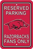 COLLEGIATE Arkansas Plastic Parking Sign