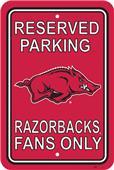 COLLEGIATE Arkansas Plastic Parking Sign