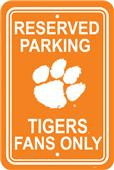 COLLEGIATE Clemson Plastic Parking Sign
