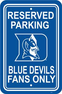 COLLEGIATE Duke Plastic Parking Sign