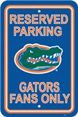 COLLEGIATE Florida Plastic Parking Sign
